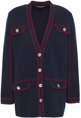 Maje Mollie Embroidered Cotton Cardigan