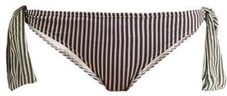 Solid & Striped The Mackenzie Striped Bikini Briefs - Womens - Green Stripe