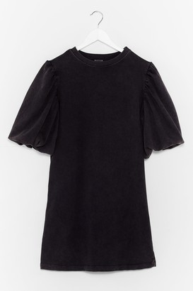 Nasty Gal Womens When the Going Gets Puff Sweatshirt Dress - Black