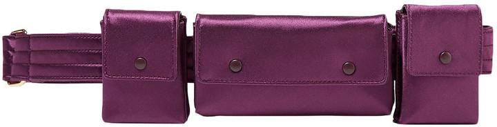 Gabriela Hearst Leather-trimmed Satin Utility Belt
