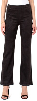 Liverpool Los Angeles Chloe Faux Suede High Waist Flare Pants