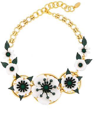 Elizabeth Cole 24-karat Gold-plated, Crystal And Resin Necklace