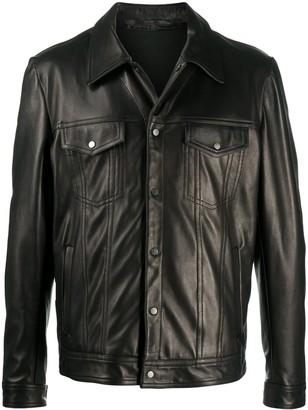 Salvatore Santoro Button-Down Leather Jacket