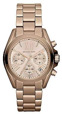 Michael Kors Women's Rose Goldtone Stainless Steel Chronograph Watch