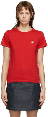 MAISON KITSUNÉ Red Fox Head Patch T-Shirt