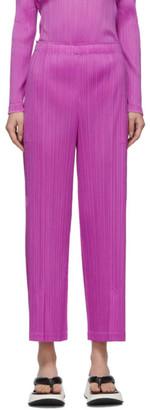 Pleats Please Issey Miyake Purple Pleats Trousers