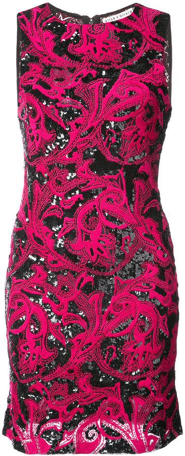 Alice + Olivia Alice+Olivia embellished fitted dress