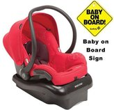 Maxi-Cosi Mico Nxt Infant Car Seat with a Baby on Board Sign - Intense Red by