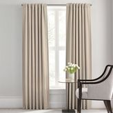 Barbara Barry Modern Drape Rod Pocket/Back Tab 120-Inch Window Curtain Panel in Flax