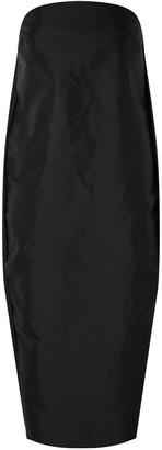 Rick Owens Strapless Coated Shell Midi Dress