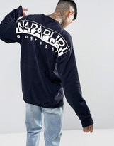Napapijri Tier 1 Badstow Logo Sweatshirt In Navy