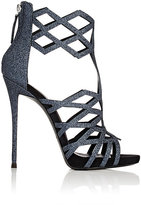Giuseppe Zanotti Women's Laser-Cut Caged Sandals-NAVY