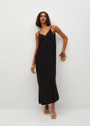 MANGO Strap flowy dress