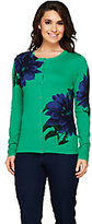 Isaac Mizrahi Live! Exploded Placed Floral Cardigan