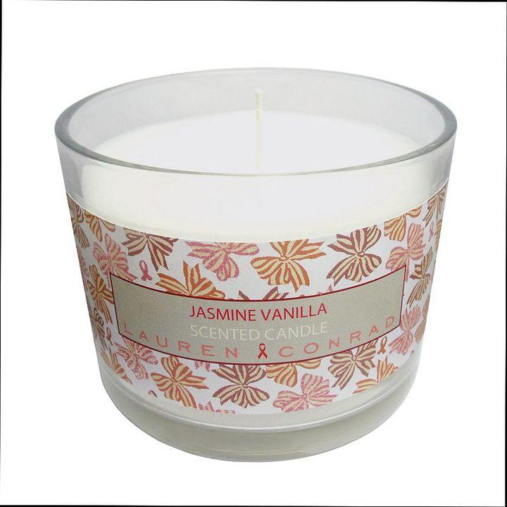 Lauren Conrad Kohl's cares jasmine vanilla candle
