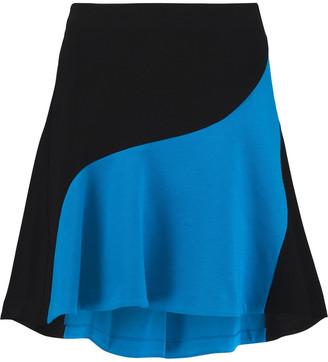 Emilio Pucci Two-tone Stretch-ponte Mini Skirt