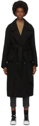 Ami Alexandre Mattiussi Black Double-Breasted Coat