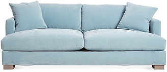 One Kings Lane Hudson Sofa - Light Blue Velvet