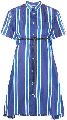 Sacai Striped Print Shirt Dress
