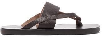 Ancient Greek Sandals Zinon Leather Sandals - Mens - Dark Brown