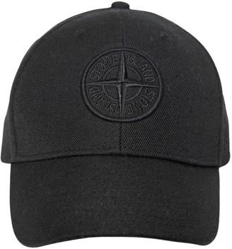 Stone Island Logo Wool Blend Baseball Hat