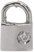 Lauren Klassen White Gold Diamond Tiny Padlock Earring
