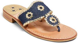 Jack Rogers Jacks Denim Flat Sandals
