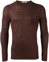 La Fileria For D'aniello - slim-fit ribbed jumper - men - Linen/Flax - 46