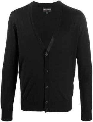 Emporio Armani V-neck fine knit cardigan