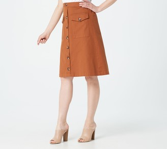 Du Jour Regular Button Front Utility Skirt
