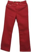 ALEXACHUNG Alexa Chung Red Cotton Jeans
