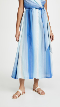 By Any Other Name Shirred Waist Tea Skirt