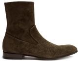 Alexander Mcqueen Zip-up Suede Ankle Boots