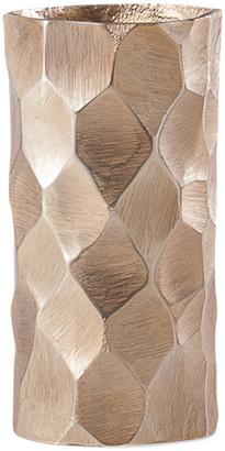 Torre & Tagus Linus Chiseled Brushed Cylinder Vase Small