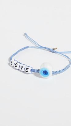 Maison Irem Message Bead Eye Bracelet