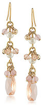 Lauren Ralph Lauren Two Dozen Roses Faux-Pearl & Rose Quartz Linear Drop Earrings