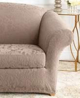 Sure Fit Stretch Sofa Jacquard Damask 2-Piece Sofa Slipcover
