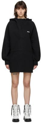 MSGM Black Fleece Drawstring Dress