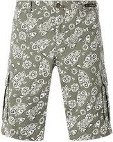 Pt01 paisley print shorts