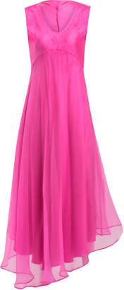Maggie Marilyn Hey Sugar Asymmetric Silk-Chiffon Midi Dress Size: 8