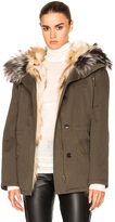 Army by Yves Salomon Reversible Classic Parka Jacket with Fox Fur