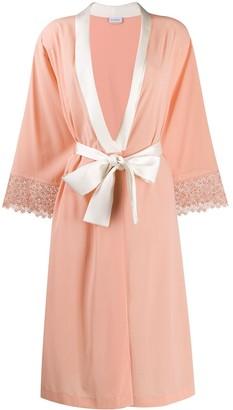 La Perla Lace-Trimmed Robe