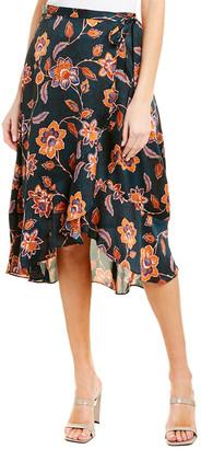 BCBGMAXAZRIA Floral Wrap Skirt
