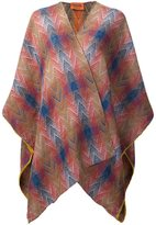 Missoni square chevron cape - women - Silk/Wool - One Size