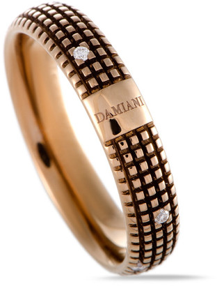 Damiani 18K Rose Gold & Rhodium Diamond Ring