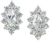 Carolee Silver-Tone Marquise Crystal Stud Earrings
