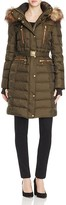 Vince Camuto Belted Faux Fur Hooded Puffer Coat