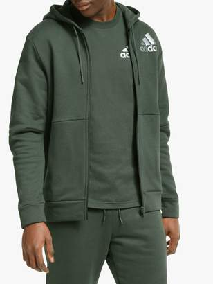 adidas Sport ID Full-Zip Hoodie, Legend Earth