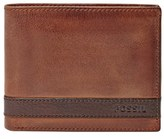 Fossil Men's 'Quinn' Leather Bifold Wallet - Black