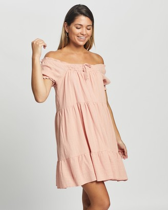 Atmos & Here Atmos&Here - Girl's Pink Mini Dresses - Amelia Mini Dress - Size 6 at The Iconic